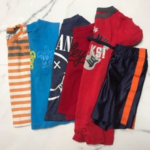 Bundle baby boy tees shorts and romper